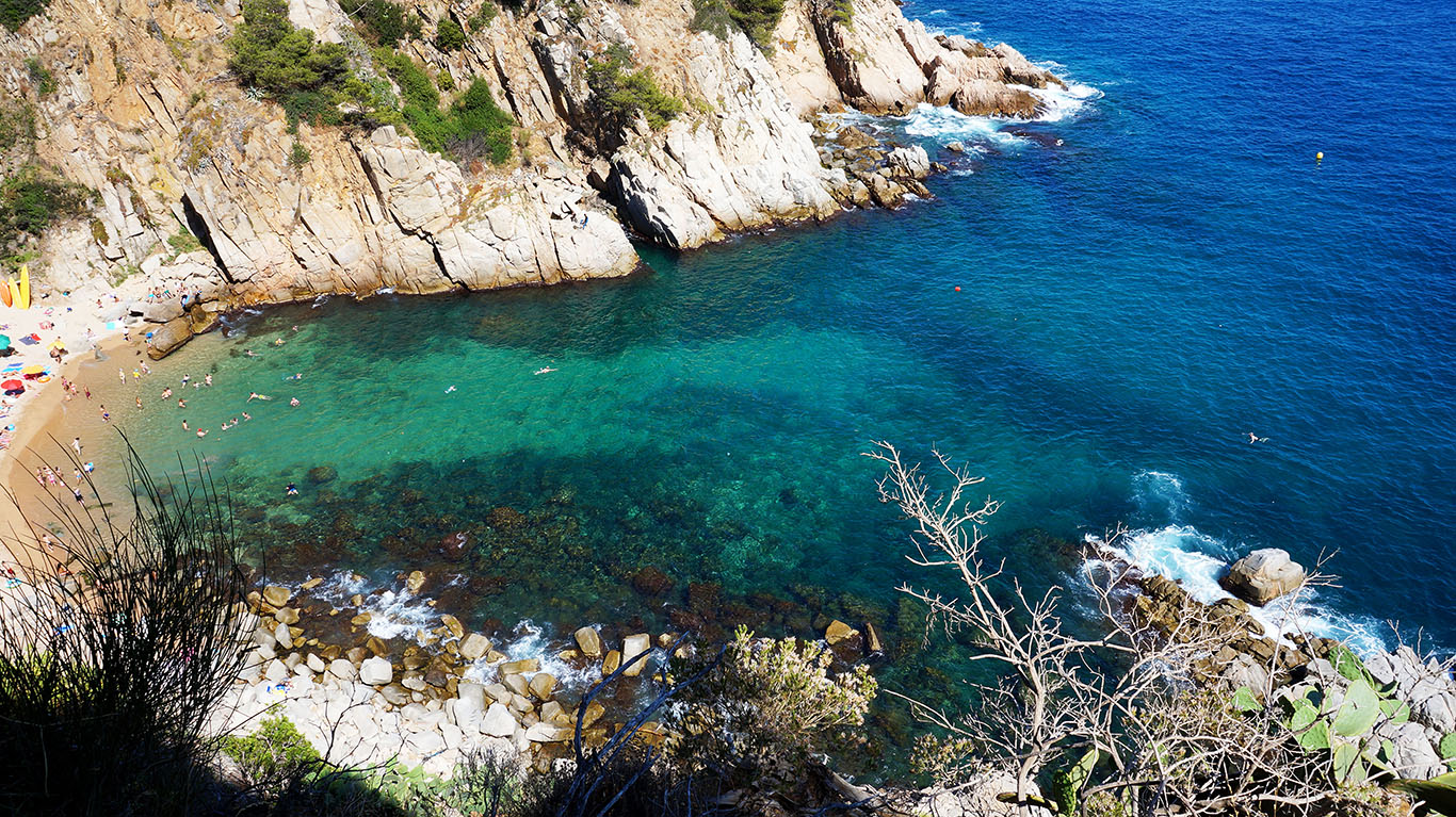 Испания - Тосса-де-Мар: Пляж Кодолар (Platja Es Codolar)