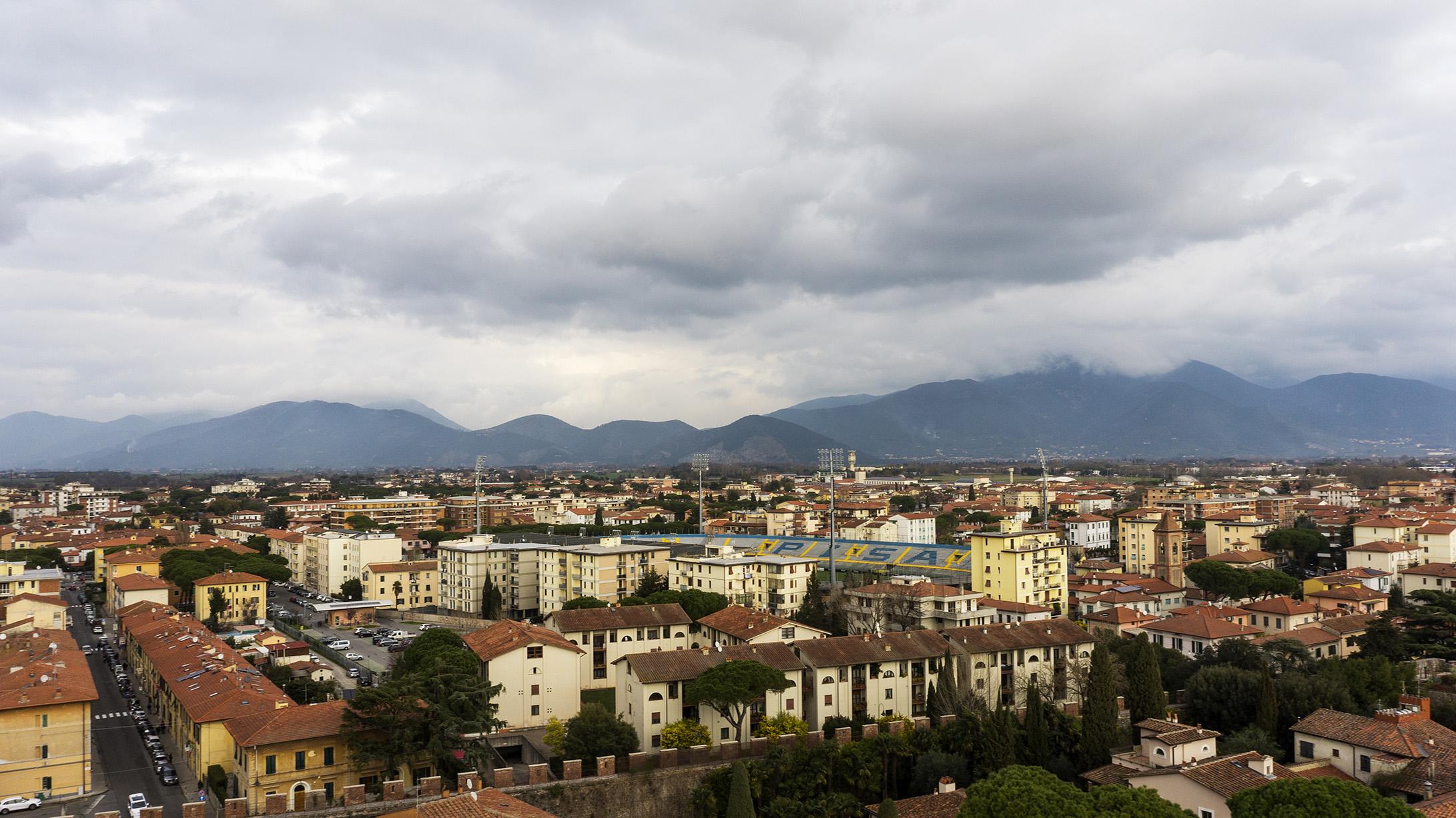 Достопримечательности Пизы: смотровая площадка с Пизанской башни