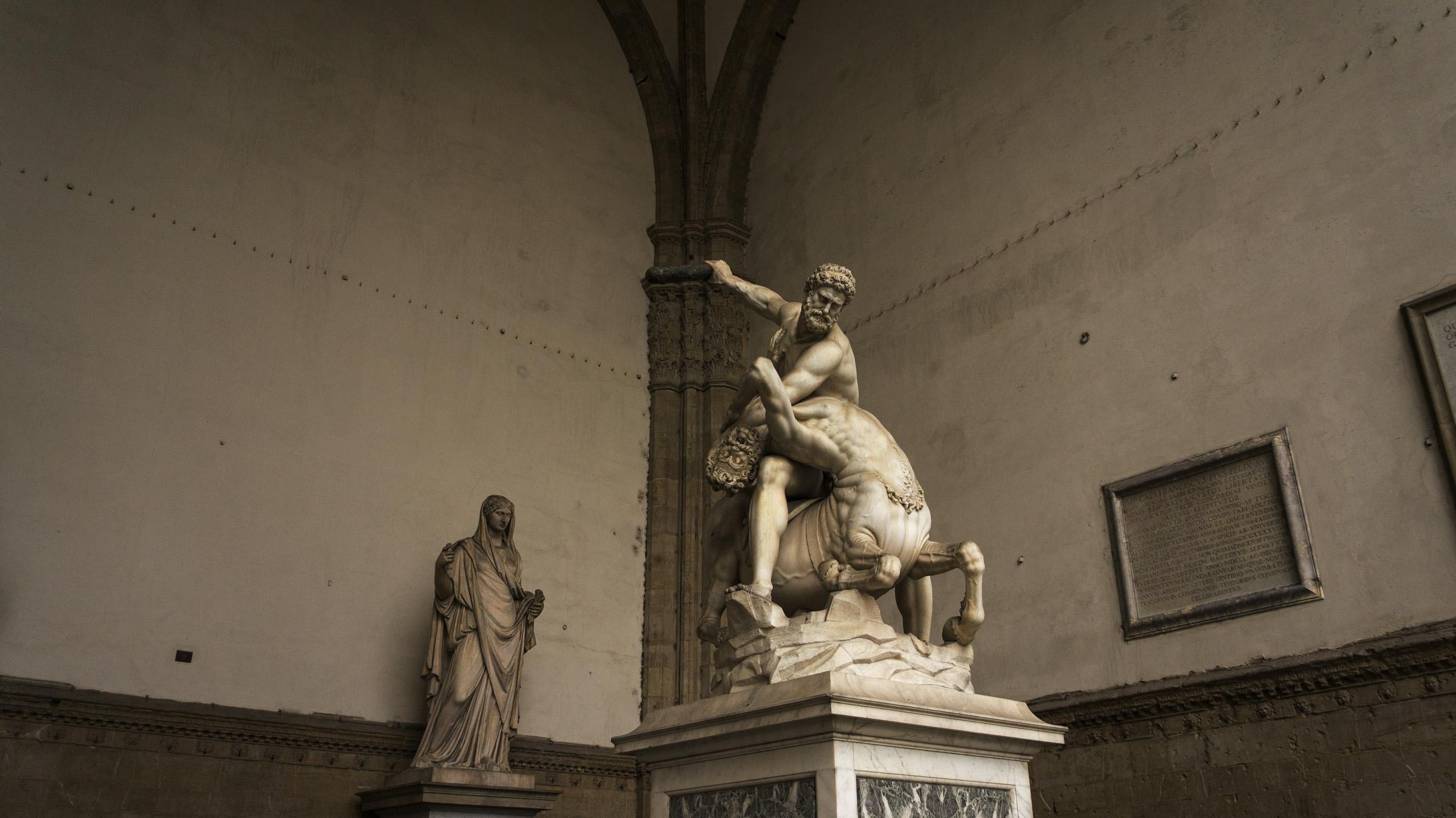 Достопримечательности Флоренции: скульптуры похищения собинянок