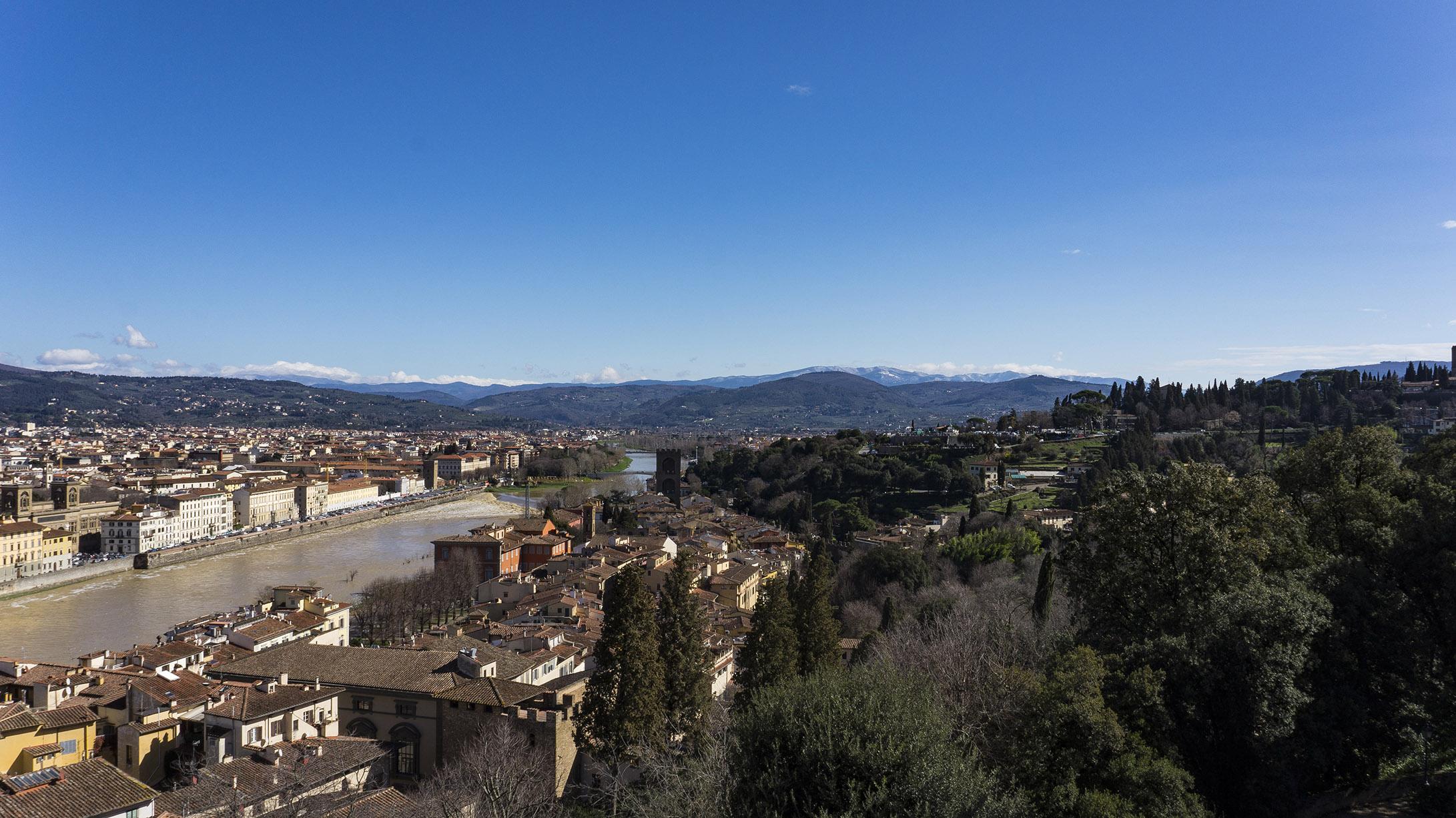 Достопримечательности Флоренции: Вид с террасы виллы Бардини