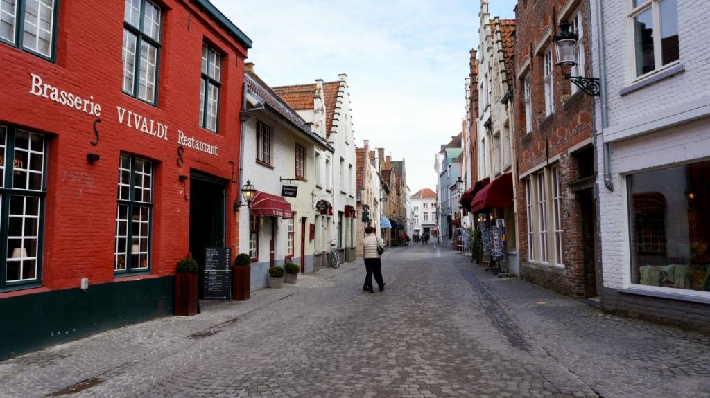 Брюгге, Бельгия: улица Wijngaarstraat