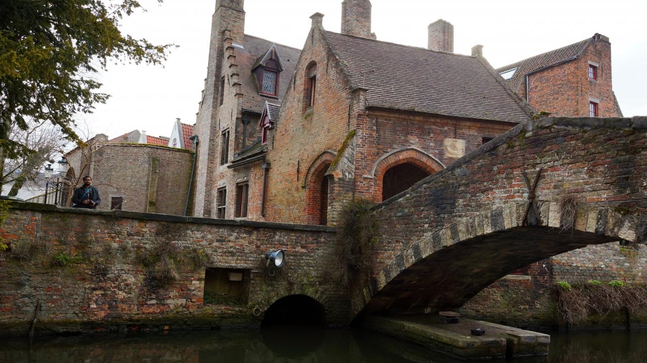 Брюгге, Бельгия: мост Bonifacius Bridge