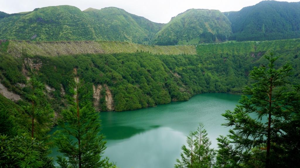 Азорские острова, Сан Мигель: озеро Santiago
