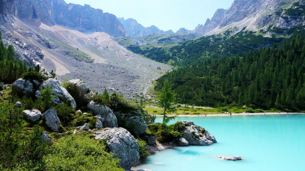 Кортина д'Ампеццо: озеро Sorapiss