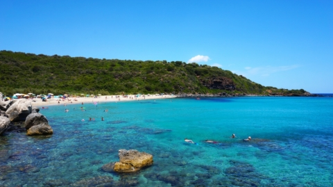 Пляж Cala Cartoe — Сардиния