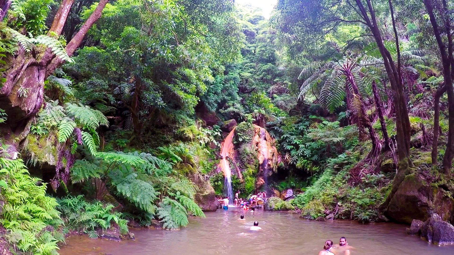 Азорские острова, Сан Мигель: парк Caldeira Velha