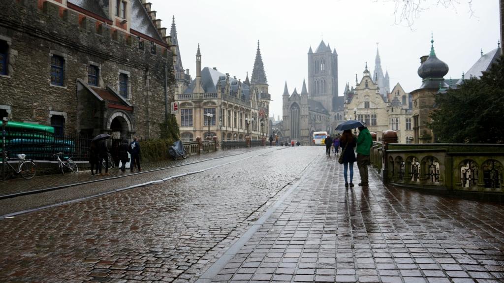 Гент, Бельгия: Мост Святого Михаила