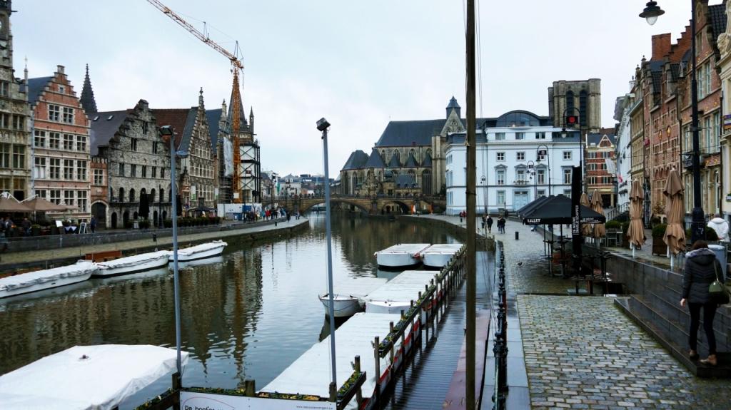 Гент, Бельгия: мост Grasbrug