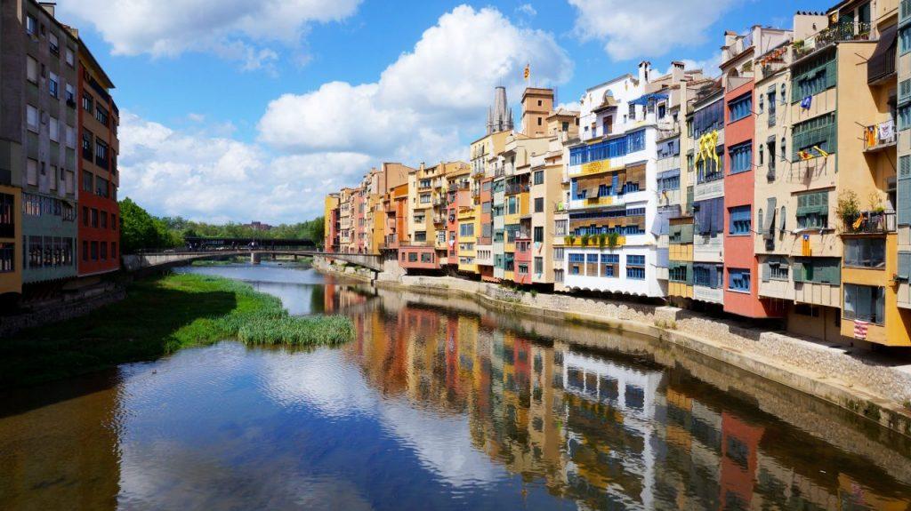 Жирона, Испания: мост Pont de Sant Agusti