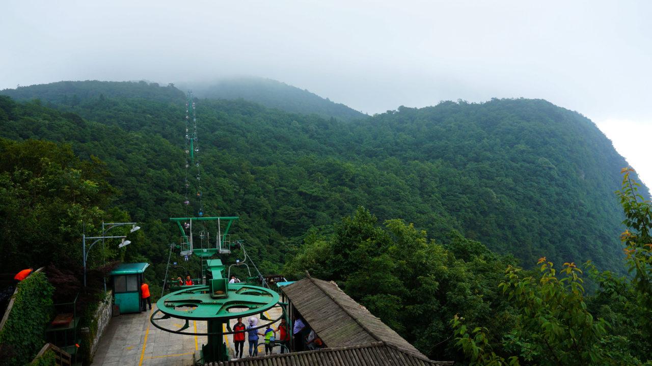 Гора Тяньмэнь: лесная канатная дорога