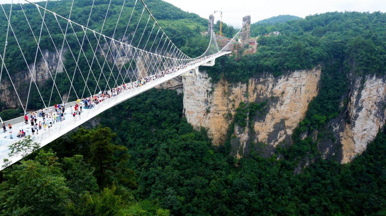Чжанцзяцзе: мост Zhangjiajie Glass Bridge