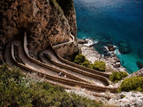 Остров Капри: via Krupp