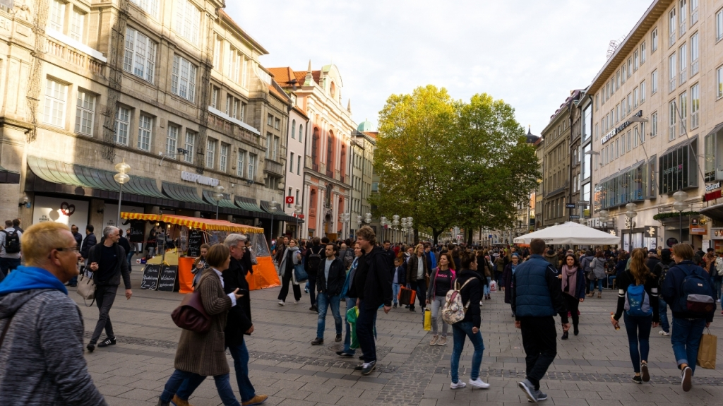 Мюнхен: улица Нойхаузер Штрассе