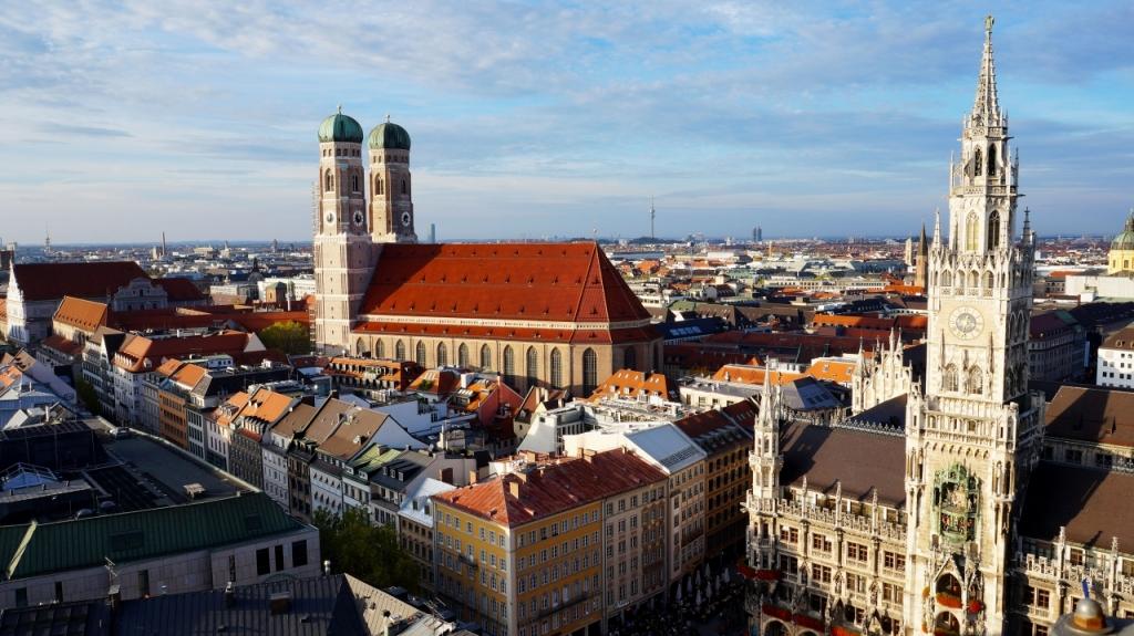 Мюнхен: смотровая на Мариенплац с собора Святого Петра