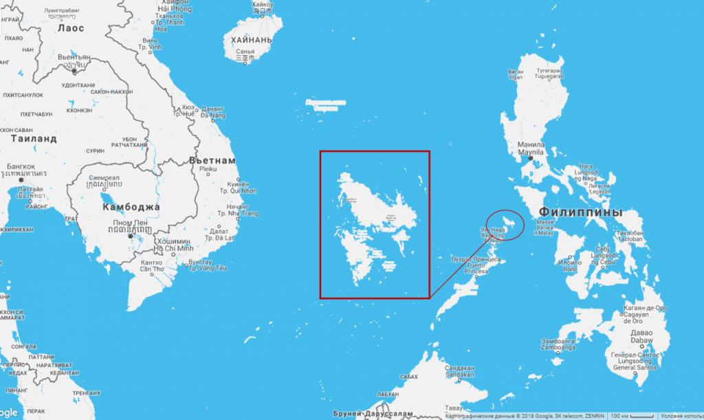 Карта Филиппинских островов