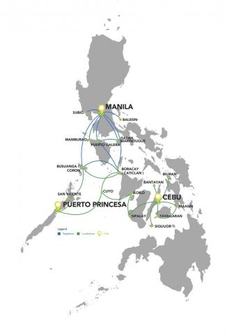 Карта полетов