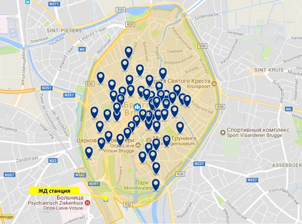 Отели Брюгге