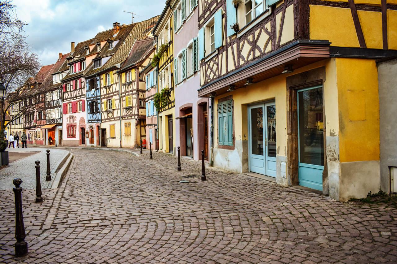 Кольмар, Франция: набережная Пуасонри