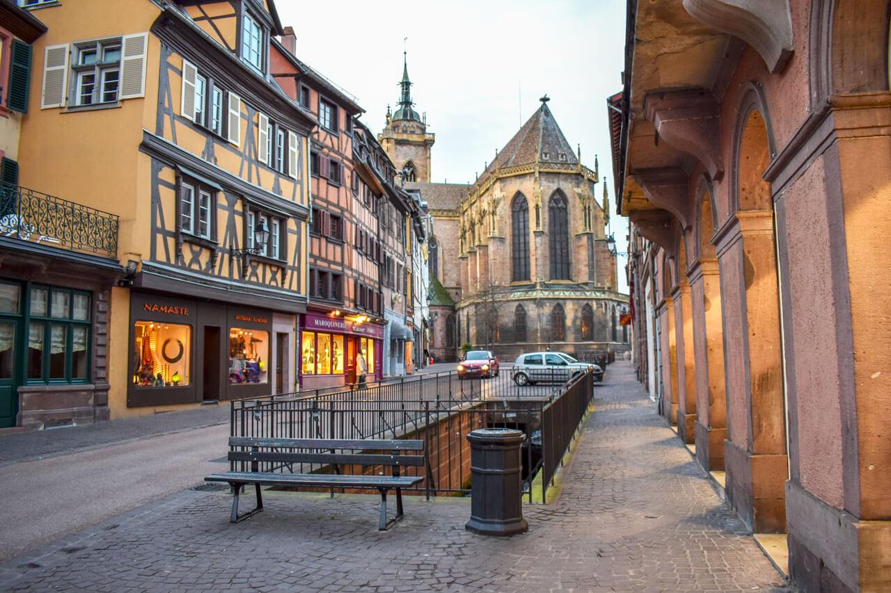 Кольмар, Франция: собор Сен-Мартен