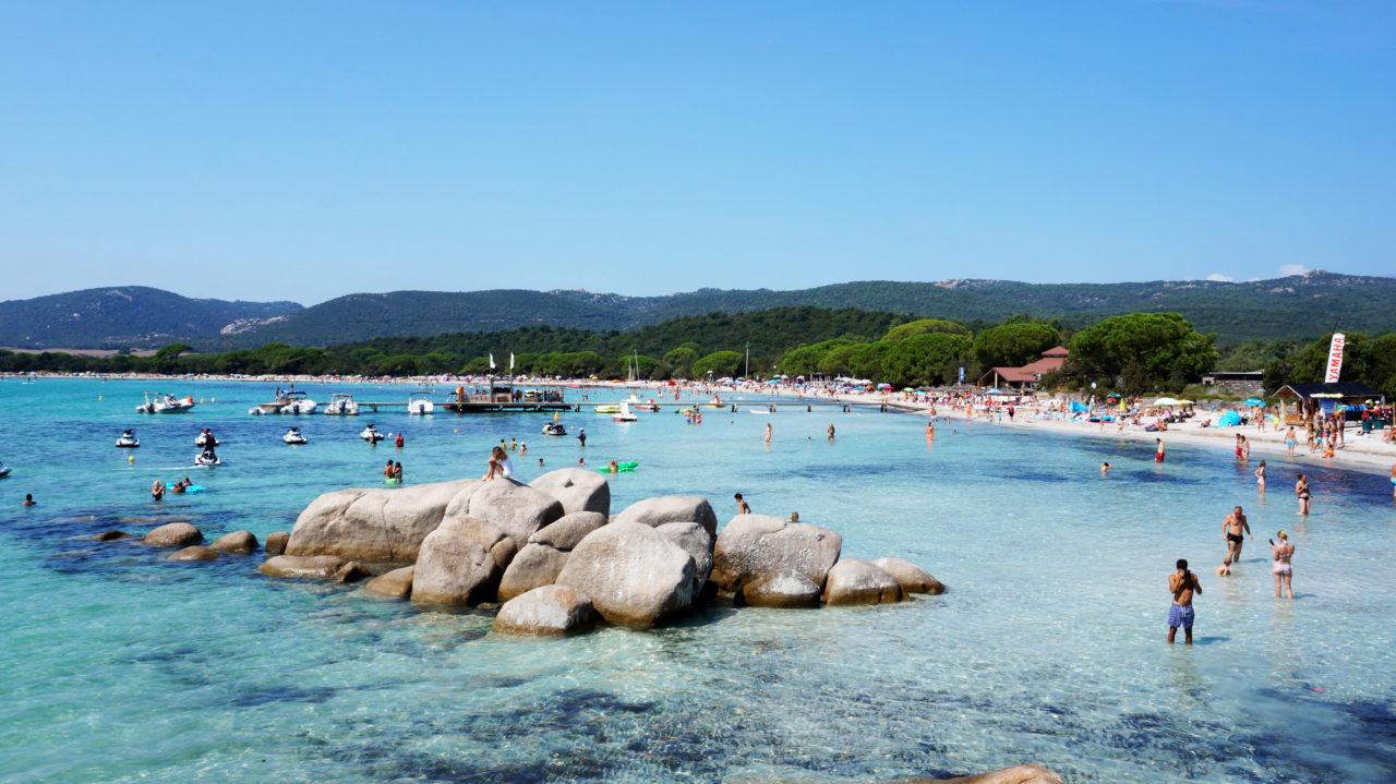 Остров Корсика: пляж Santa Giulia