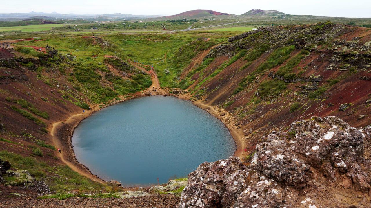 Достопримечательности Исландии: озеро керид