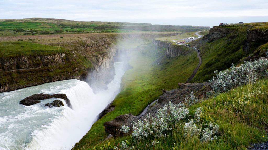 Достопримечательности Исландии: Водопад Гюдльфосс