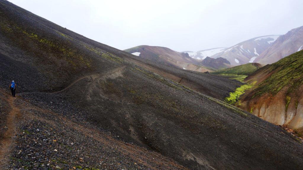 Ландманналаугар: вулкан Bláhnúkur