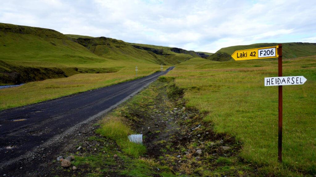 Дорога F206 до вулкана Лаки