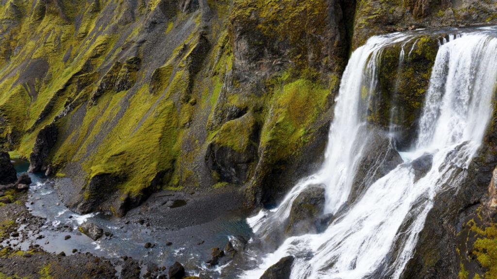 Водопад Fagrifoss Вулкан Лаки Исландия Вулкан Лаки, Исландия Iceland 171 1024x575