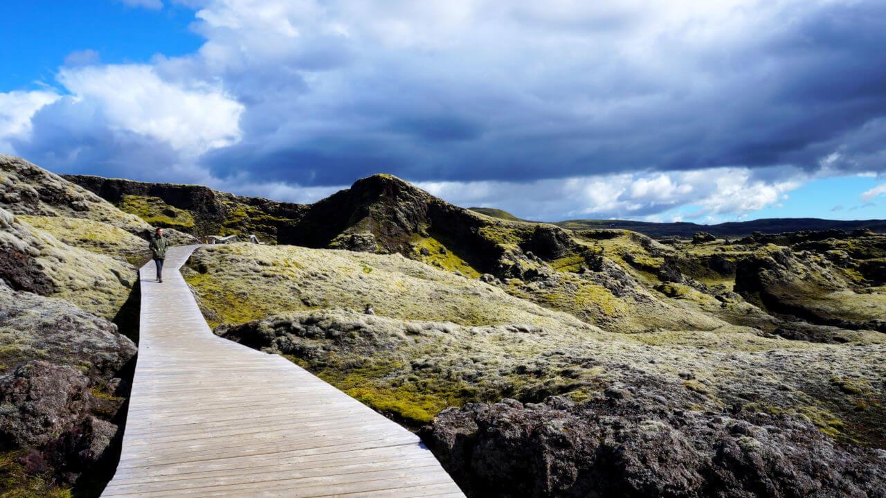 Вулкан Лаки ,Исландия: Хайкинг Tjarnargígur