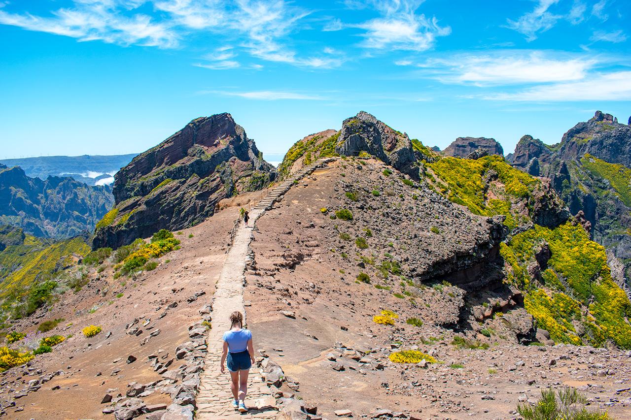 Мадейра, Португалия: хайкинг к пикам Ruivo и Areeiro