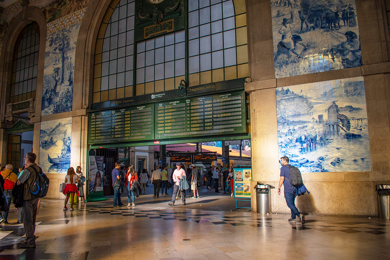 Порту, Португалия: вокзал Sao Bento