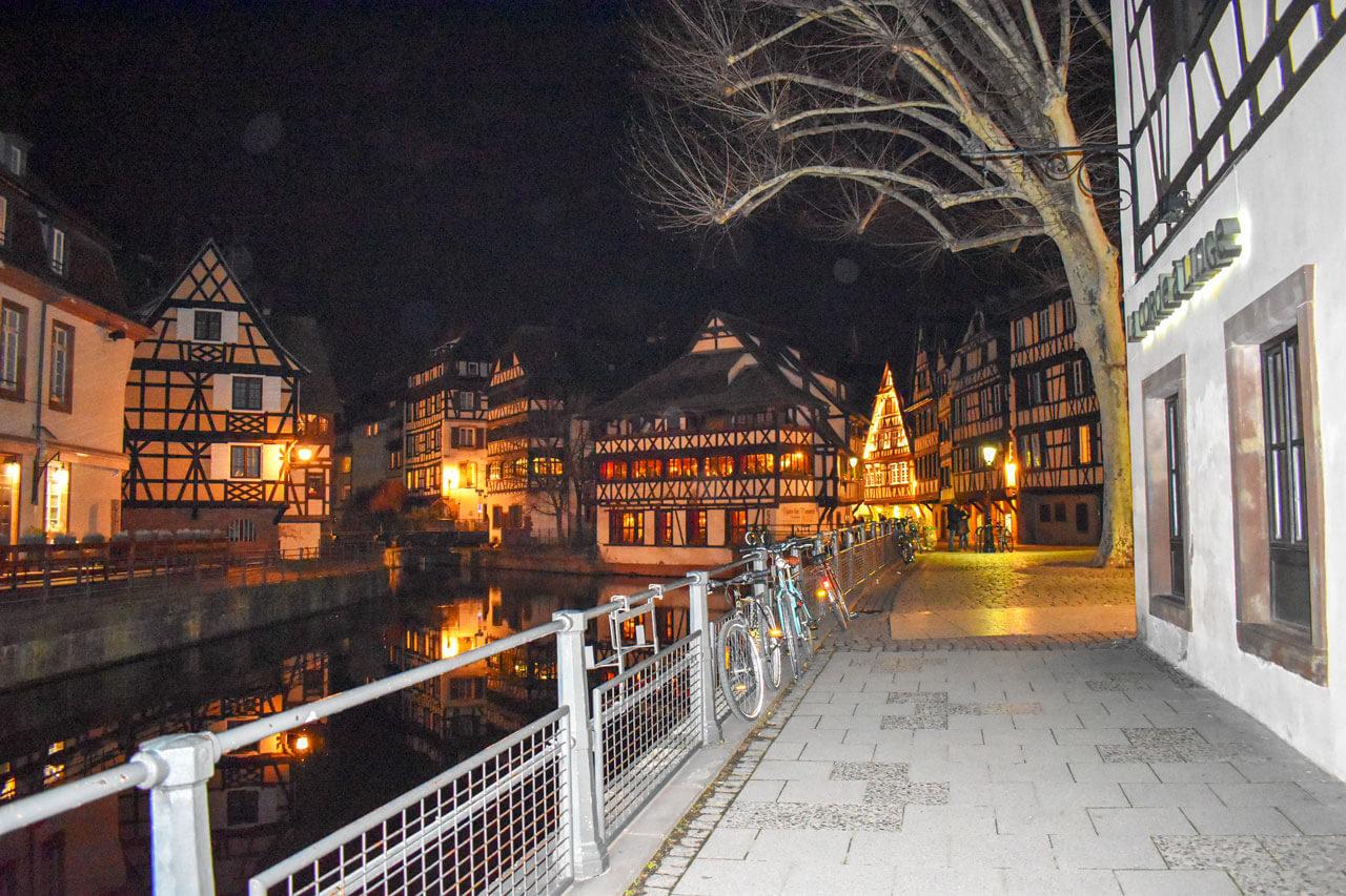 Страсбург ночью