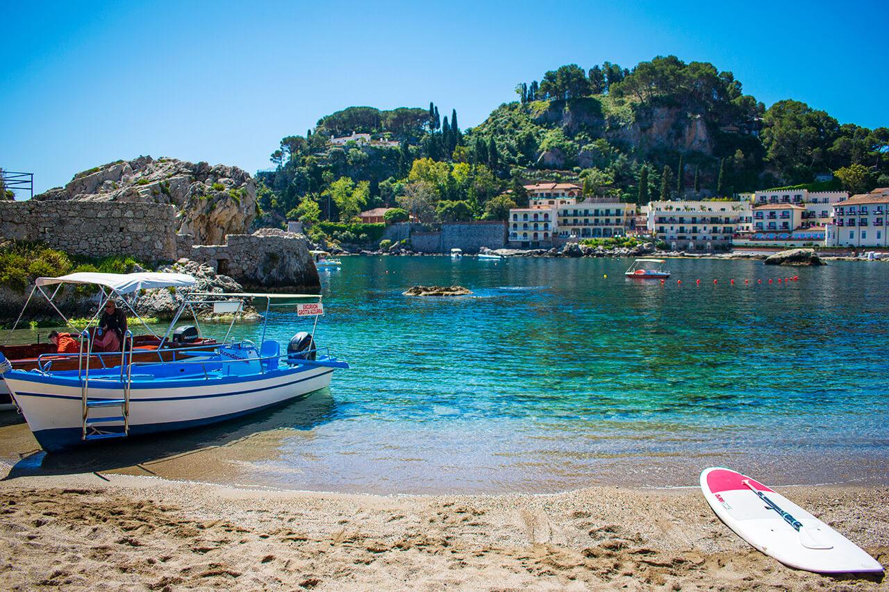 Таормина, Сицилия: пляж Mazzaro