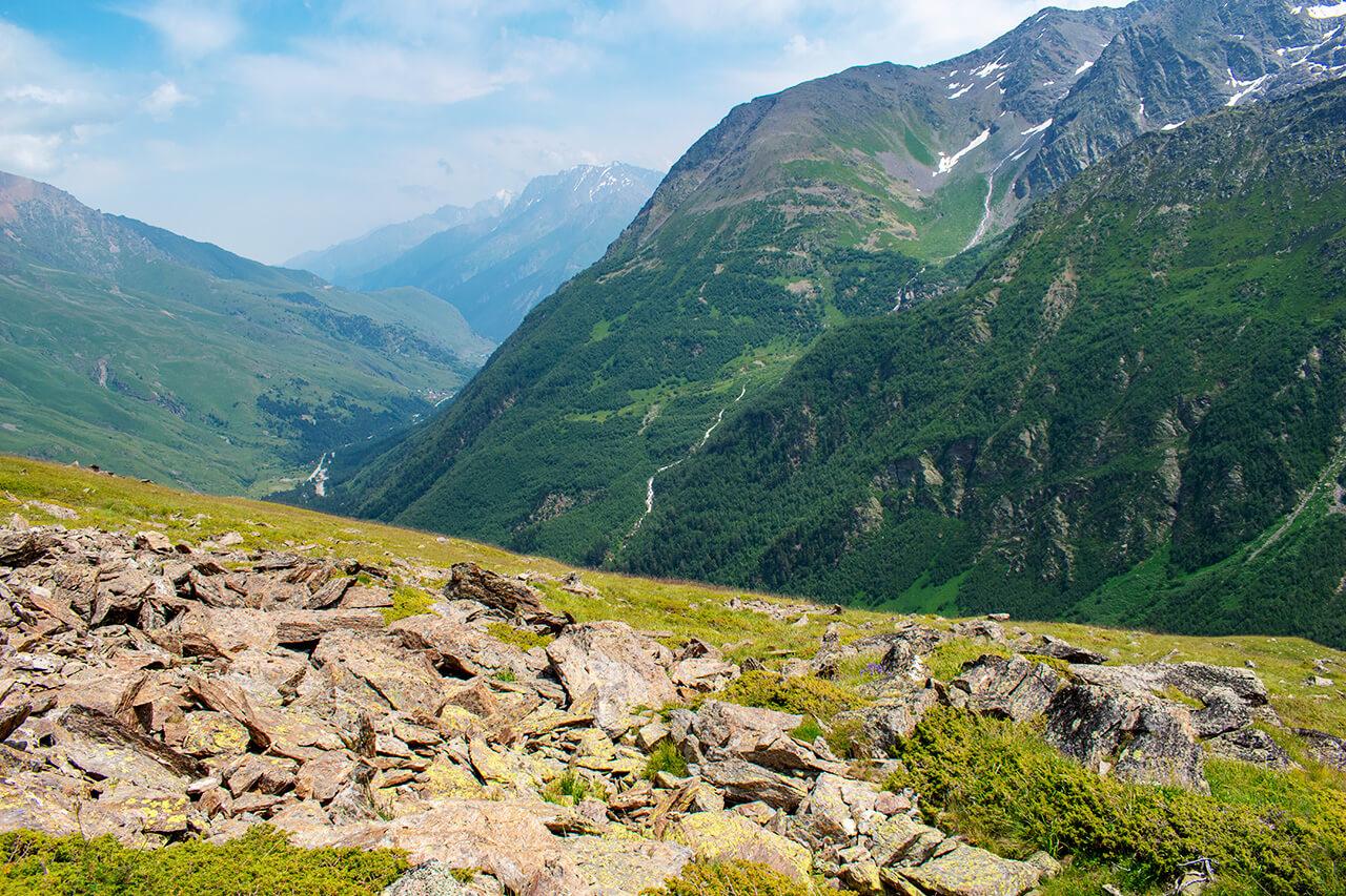 Терскол, Приэльбрусье: поход к озеру Донгуз-Орункель