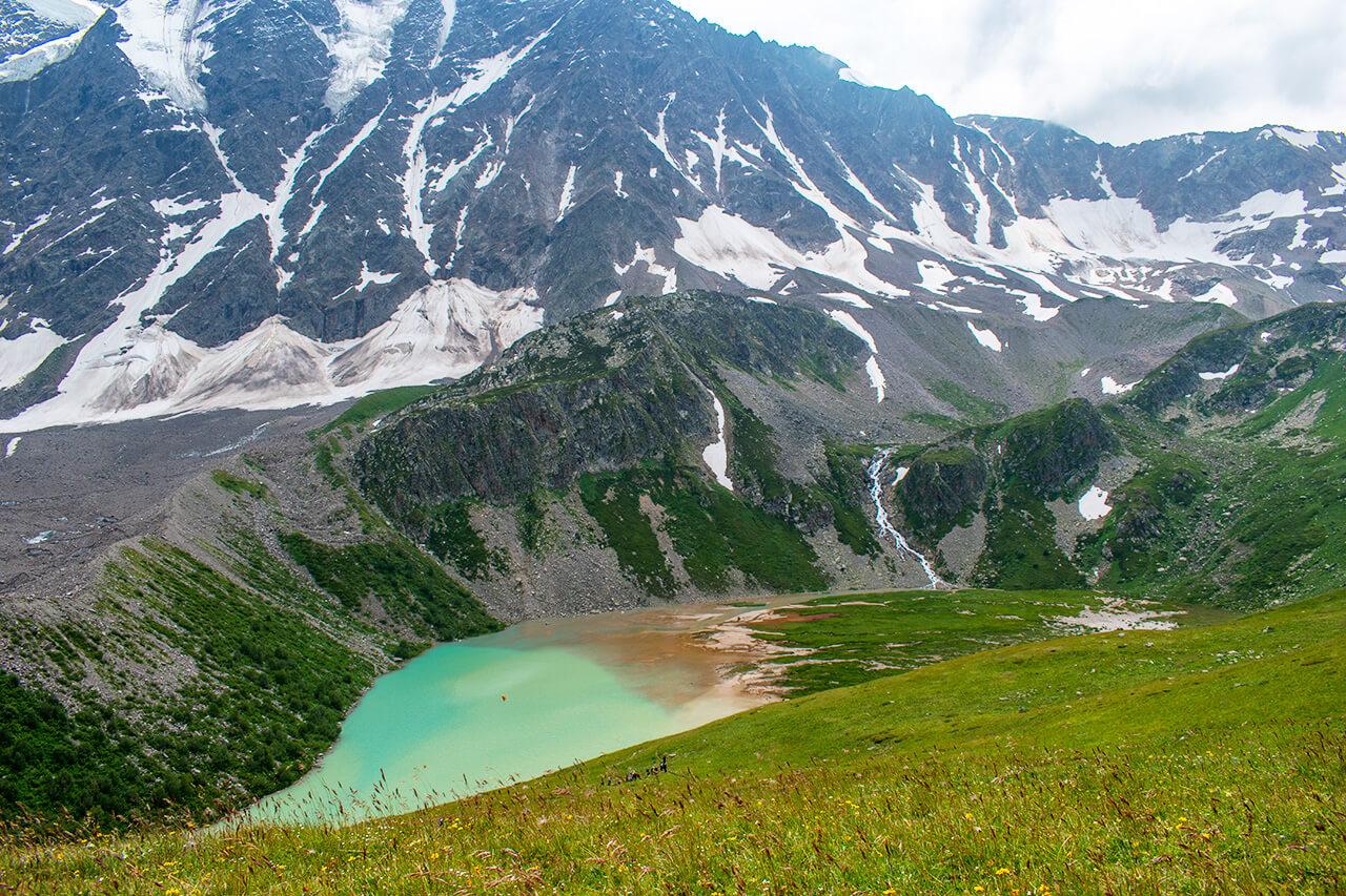 Терскол, Приэльбрусье: озеро Донгуз-Орункель