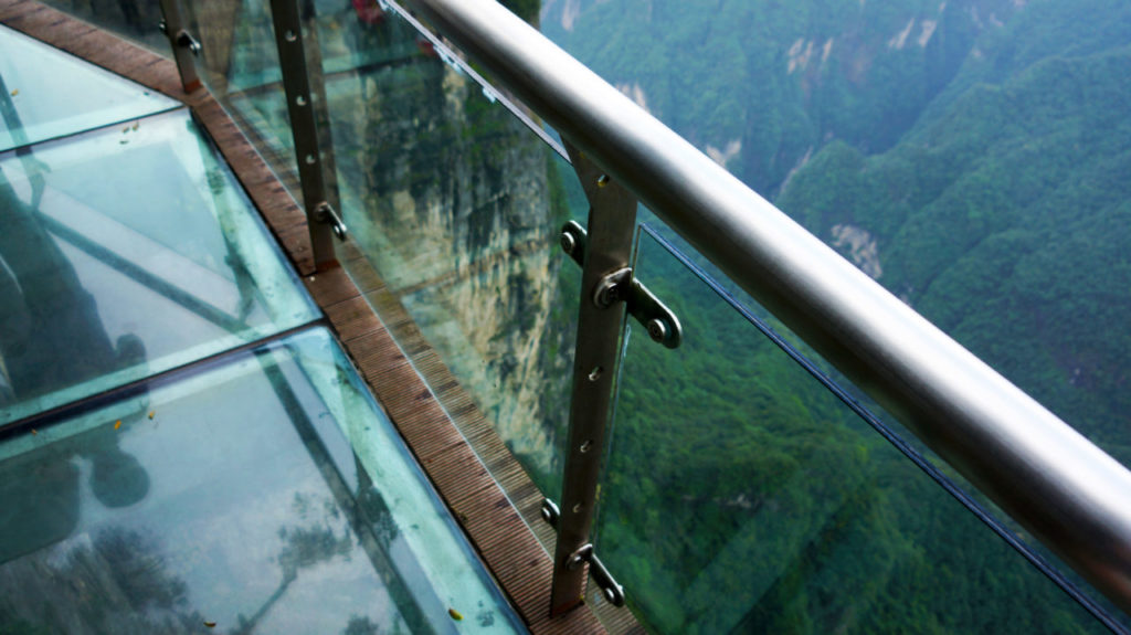 Гора Тяньмэнь: стеклянная тропа