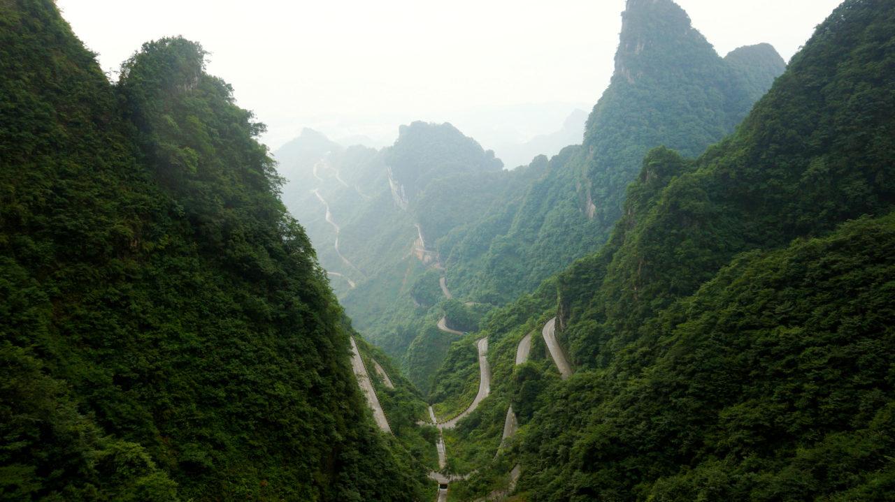 Гора Тяньмэнь: горный серпантин
