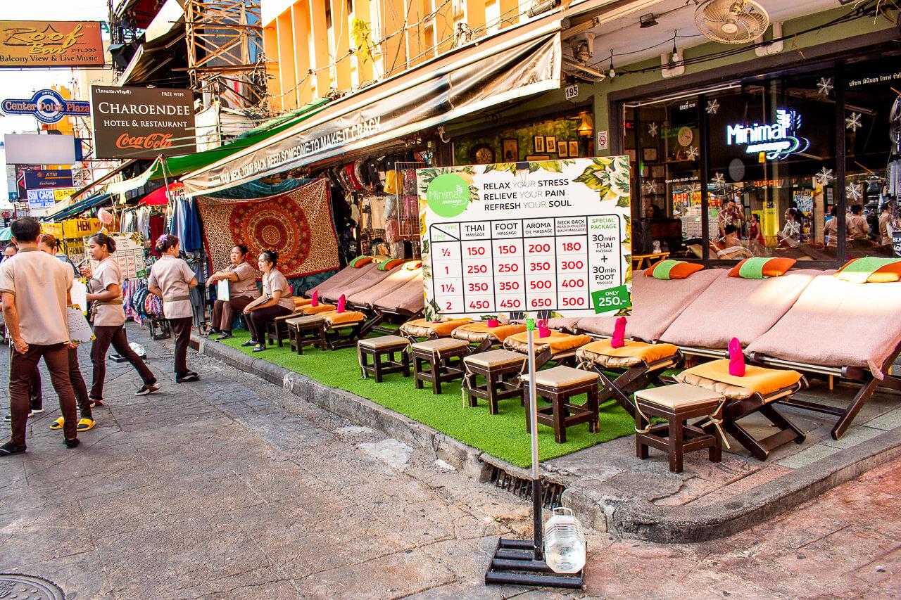 Бангкок за 1 день: улица Каосан Роуд