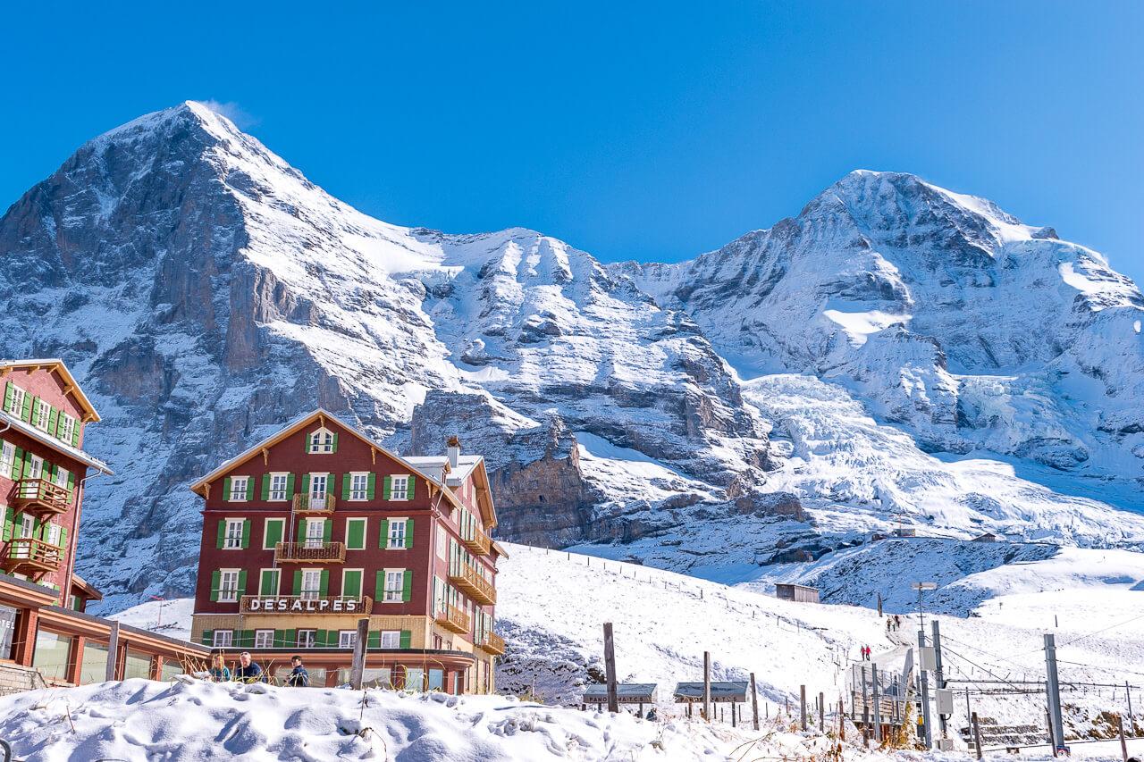 Юнгфрауйох, Швейцария: станция Kleine Scheidegg