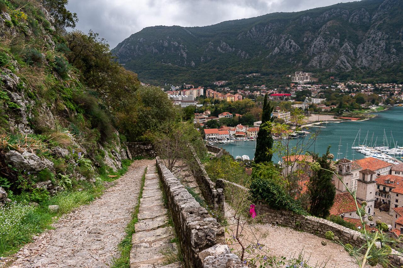 Котор, Черногория: крепость Святого Иоанна