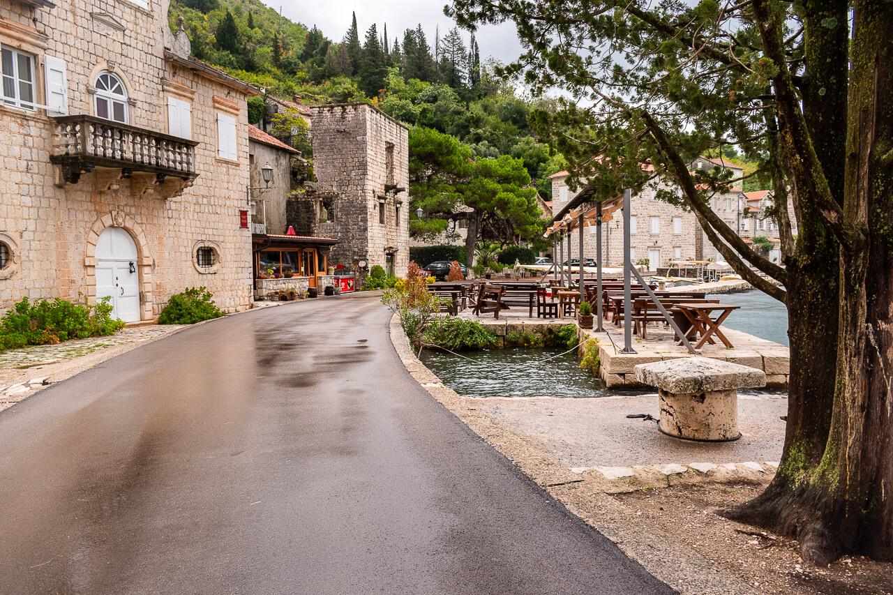 Пераст, Черногория: набережная