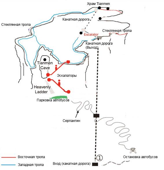 Карта парка Тяньмэнь
