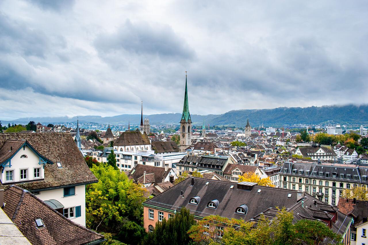 Цюрих, Швейцария: смотровая Polyterrase ETH