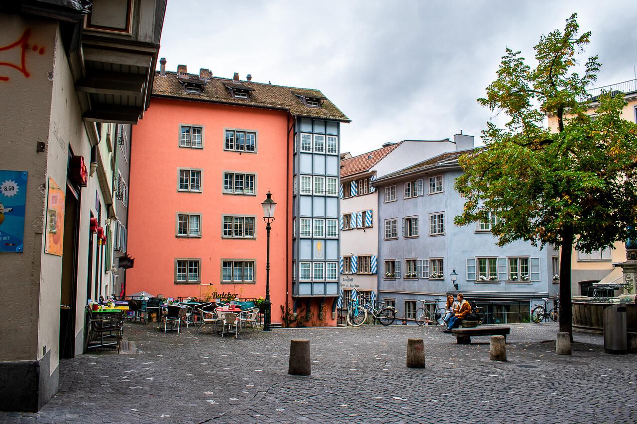 Цюрих, Швейцария: старый город Altstadt