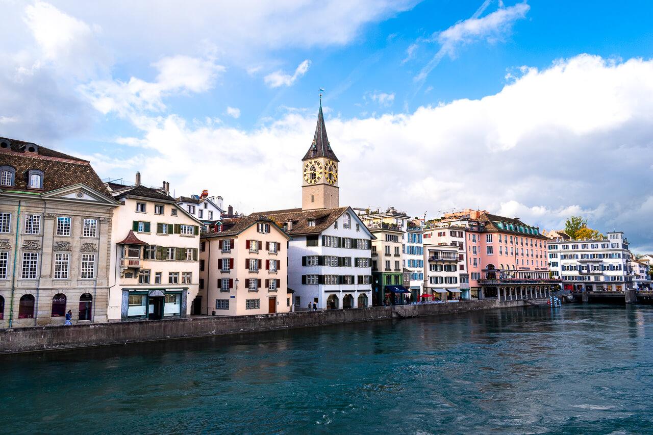 Цюрих, Швейцария: церковь Святого Петра