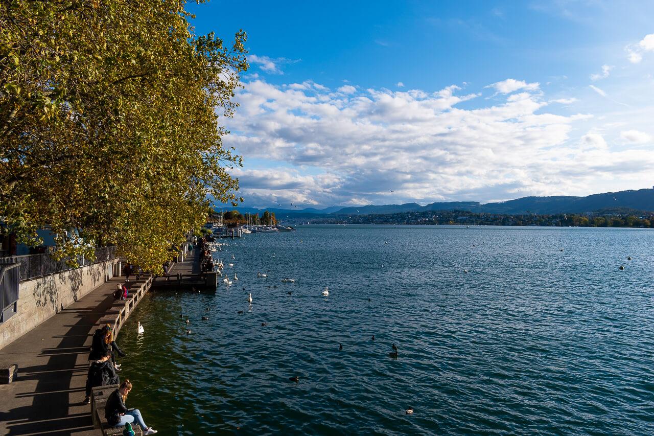 Набережная озера Цюрих