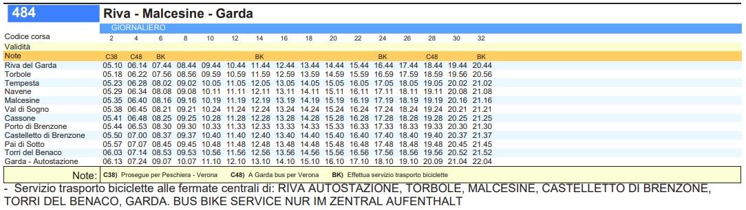 Мальчезине: автобус 483/484 Мальчезине Мальчезине, Италия Bus 484