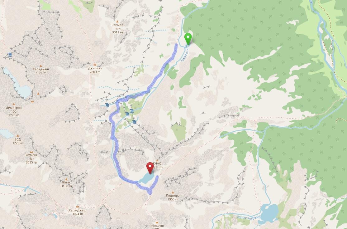 Софийские озёра, Архыз: маршрут