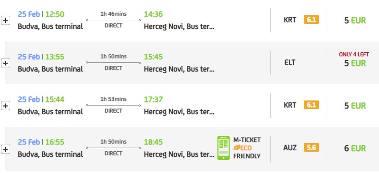 Автобусы до Херцег-Нови
